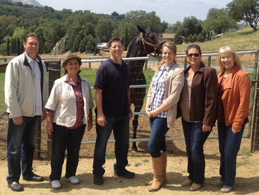 Lawmaker Tours Thoroughbred Farms