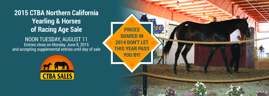 2015 CTBA Nor-Cal Yearling & Horses of Racing Age Sale