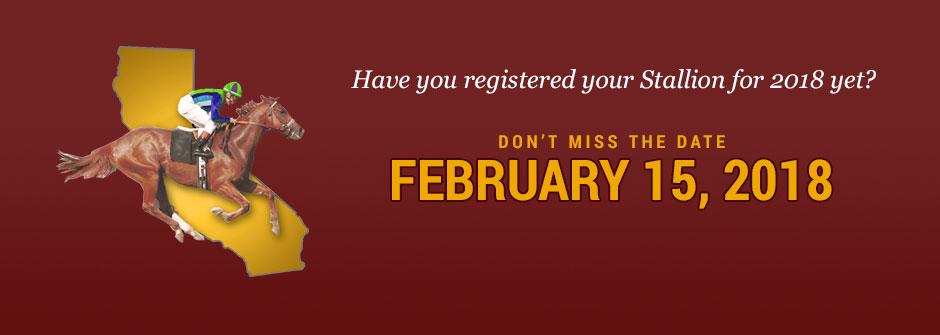 Register your stallion!