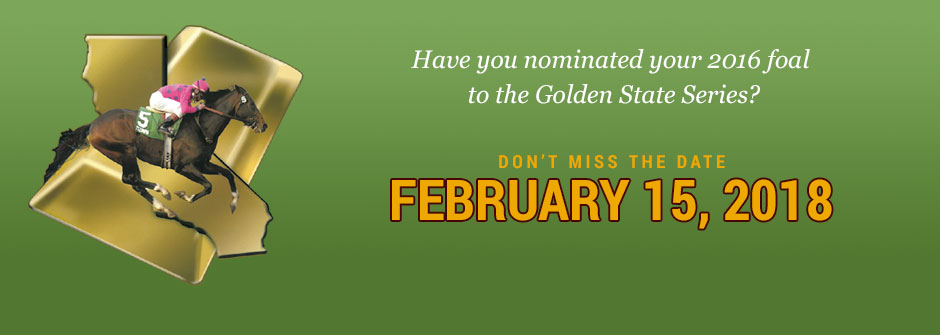 Nominate your foals to the Golden State Series!